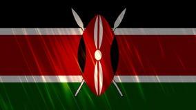 肯尼亚旗子Loopable背景 皇族释放例证