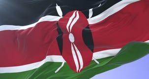 肯尼亚沙文主义情绪在慢的风与蓝天,圈 股票视频