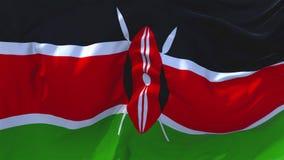肯尼亚沙文主义情绪在风连续的无缝的圈背景中 库存例证
