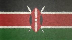 肯尼亚的旗子的原始的3D图象 向量例证