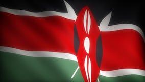 肯尼亚的旗子 股票视频