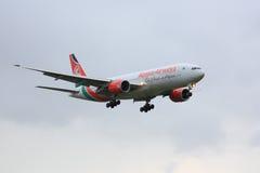 肯尼亚航空公司波音777 图库摄影