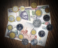 肯尼亚金钱先令、钞票和硬币 免版税库存照片