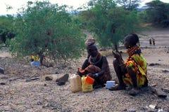 肯尼亚turkana妇女 库存照片