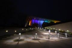 肯尼迪中心在晚上 免版税库存照片