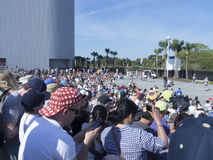 肯尼迪航天中心火箭发射观众 库存照片