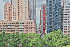 肯尼迪镇香港城市视图  免版税库存图片