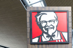 肯德基快餐餐馆标志 免版税库存图片