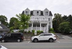 肯纳邦克波特,缅因, 6月30日:从肯纳邦克波特的圆山大饭店大厦缅因国家的美国 免版税图库摄影