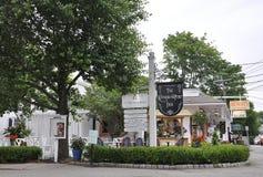 肯纳邦克波特,缅因, 6月30日:从肯纳邦克波特的街市历史的旅馆缅因国家的美国 免版税库存照片
