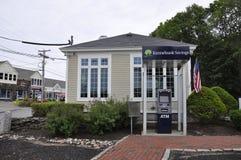 肯纳邦克波特,缅因, 6月30日:从肯纳邦克波特的街市银行缅因国家的美国 库存照片