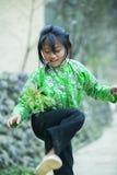 肺凸轮村庄的少数族裔孩子 库存照片