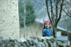 肺凸轮村庄的少数族裔孩子 图库摄影