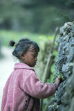 肺凸轮村庄的少数族裔孩子 库存图片