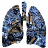 肺吸烟者 库存照片