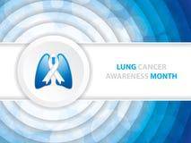 肺癌了悟月背景 免版税库存照片