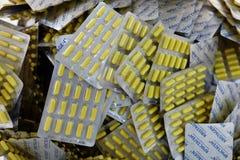 肽Kristagen的生产在企业维塔中 免版税图库摄影