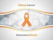 肾脏癌症标志 免版税库存照片