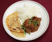 肾脏masala膳食从上面 库存照片