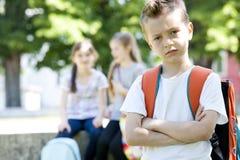 胁迫在学校以后 库存照片