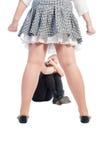 胁迫的女孩 免版税库存照片