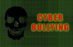 胁迫的cyber 免版税库存图片