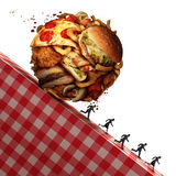胆固醇健康危害 向量例证