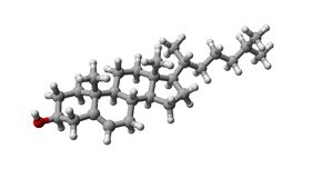 胆固醇分子 库存照片