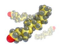胆固醇宏指令分子在白色的 库存例证