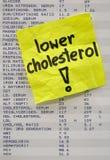 胆固醇概念降低您 免版税库存照片