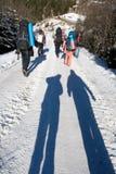 背包徒步旅行者 库存照片