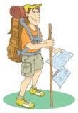 背包徒步旅行者 皇族释放例证