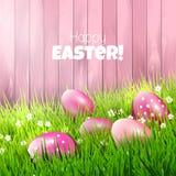 背景上色了复活节彩蛋eps8格式红色郁金香向量 图库摄影