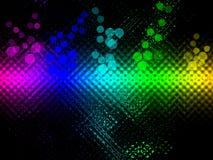背景上色彩虹 库存图片