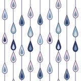 背景下降雨向量 图库摄影