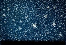 背景与星和月亮的夜空 免版税库存图片