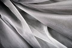 背景丝绸银 免版税库存图片