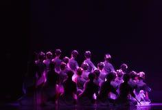 背景中国民间舞 免版税库存照片