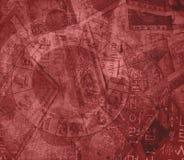 背景中国混杂的货币黄道带 库存图片
