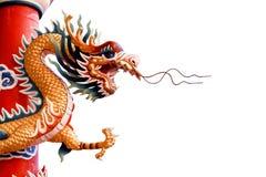 背景中国龙白色 图库摄影