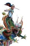 背景中国龙神白色 免版税图库摄影