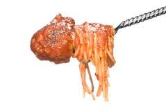 背景丸子spagetti白色 免版税库存图片
