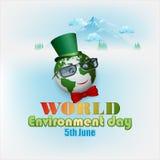 背景为世界环境日,庆祝 免版税库存图片