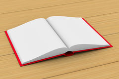 背景书开放白色 3d例证 免版税图库摄影
