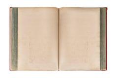 背景书查出的老开放白色 脏的纸纹理 库存图片
