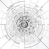 背景二进制代码地球电话行星技术 向量例证