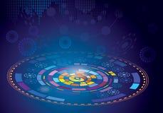 背景二进制代码地球电话行星技术 图库摄影