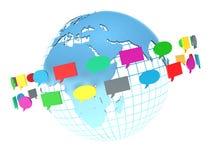 背景二进制代码概念组网络人社交 论坛或闲谈泡影讲话 免版税库存照片