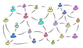 背景二进制代码概念组网络人社交 免版税图库摄影