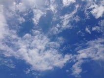 背景云彩和天空 免版税库存图片